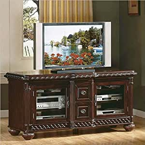 Amazon Com Antoinette Solid Wood Flat Screen Tv Stand With Hand Carved Detail Home Audio Amp Theater