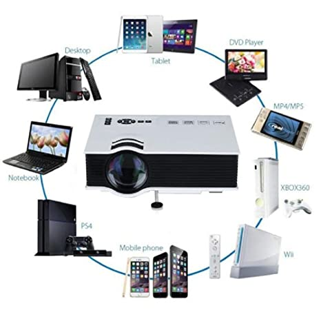 Amazon.com: MyBDJ Original LED Projector HDMI 1200lms 3D ...