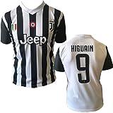 Maglia HIGUAIN 9 Juventus replica prodotto ufficiale 2017/18 autorizzato JJ F.C. (bambino 2 4 6 8 10 12 anni) adulto (S M L XL)
