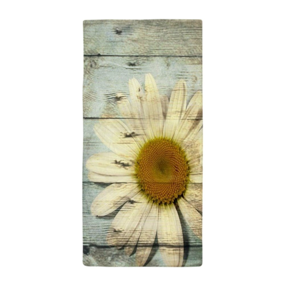CafePress - Shabby Chic Country Daisy - Large Beach Towel, Soft 30''x60'' Towel with Unique Design