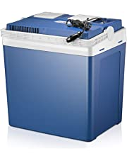 Kealive Cool Box Car Refrigerator, Warmer & Cooler 2 Modes, Dual Voltage Car Cooler Warmer 12V-24V DC, Portable Freezer with Automatic Locking Handle for Traveling, Camping-22.4L(Blue)