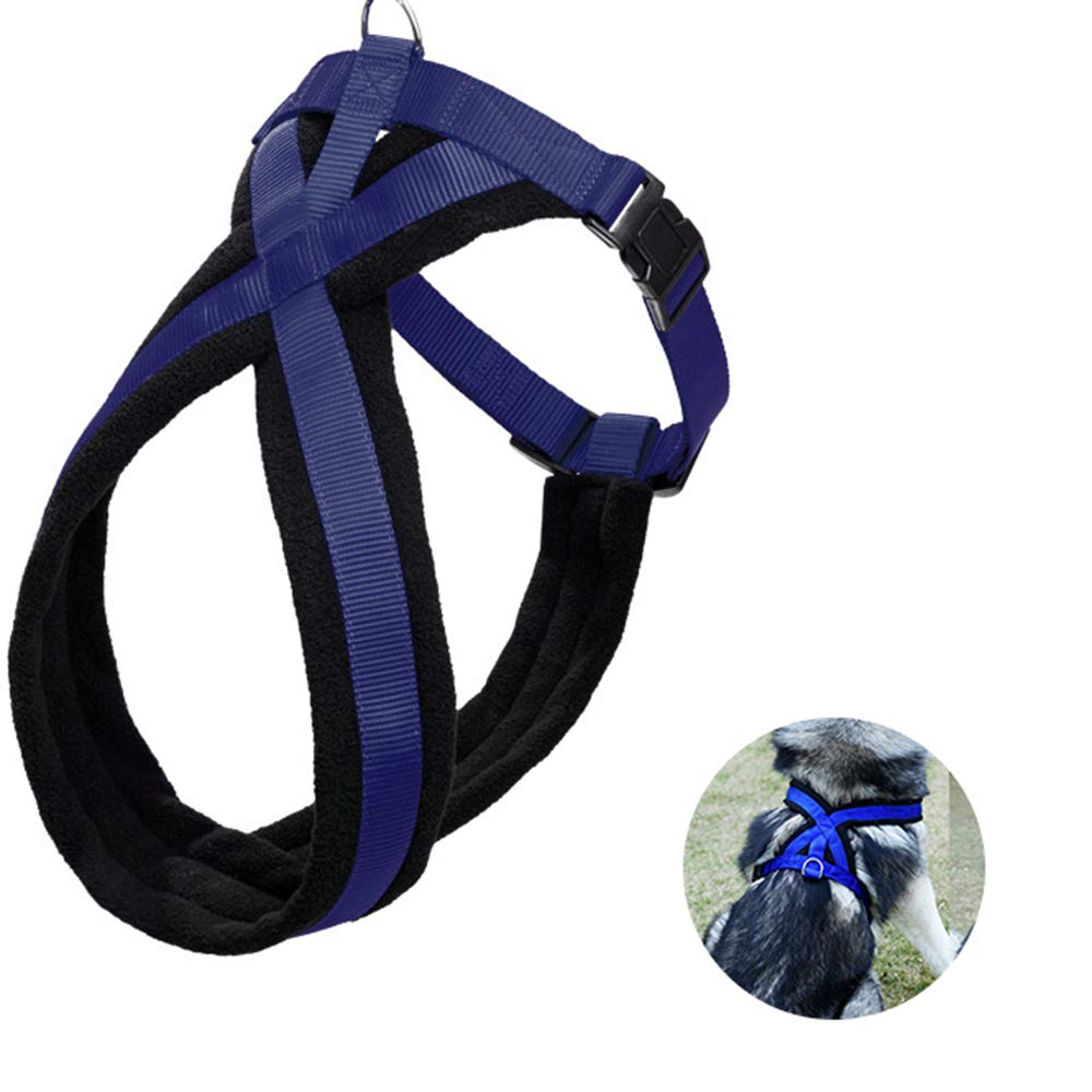 L Pet Dog Harness, Small Medium Large Chest Harness for Dogs Vest Harness Adjustable Chest Harness (No Traction Rope),L