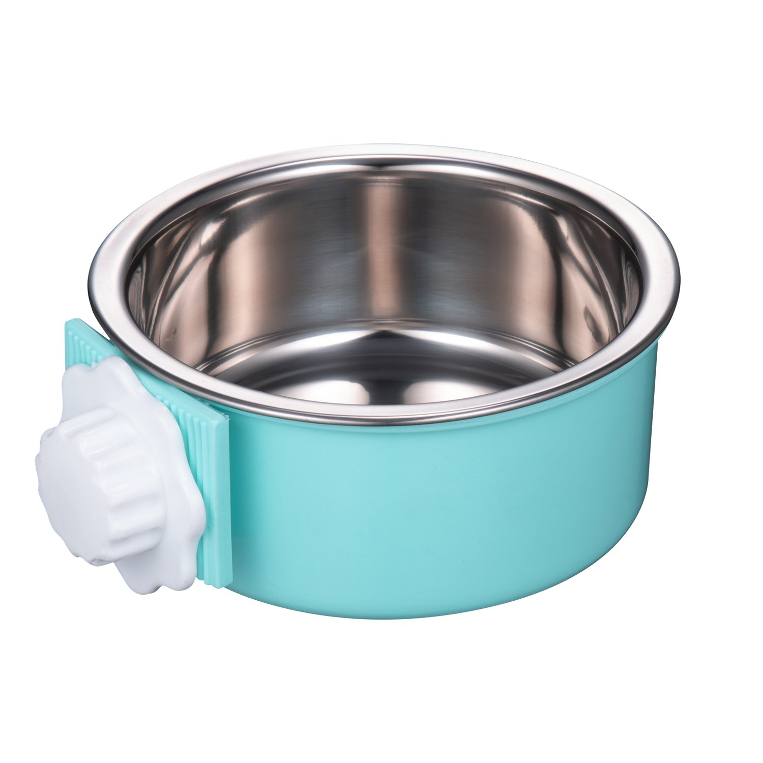 Amazon 5 stars Crate Dog Bowl, Stainless Steel Removable Hanging Food Water Bowl Cage Coop Cup for Dogs, Cats, Small Animals,14 oz