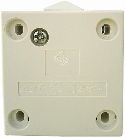 1Pack SFTlite Empuje de superficie Negro Para descomponer la luz de puerta del interruptor del empuje 2A 250V para romper interruptor el/éctrico de embutir Interruptor de la puerta //