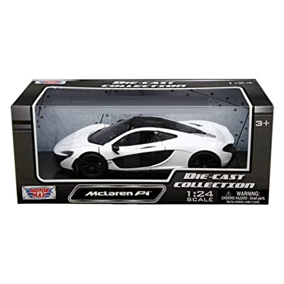 Motor Max 1:24 W/B McLaren P1 Diecast Vehicle, White: Toys & Games