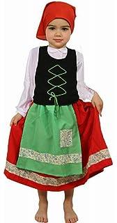 Disfraz de Pastora Aldeana en varias tallas para niña ...