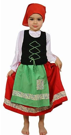 Atosa - Disfraz de folklore para niña, talla 4-6 años (8422259193067)