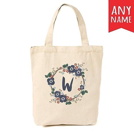 estilo distintivo primer nivel venta de tienda outlet Bolsa de lona personalizada con diseño de flor marina ...