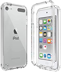 BESINPO iPod Touch Case for iPod Touch 7 Case iPod Touch 6 Case iPod Touch 5 Case, 360 Full-Body Built-in Screen Protector Slim Cover Shockproof Clear Case for iPod Touch 7th/6th/5th Generation