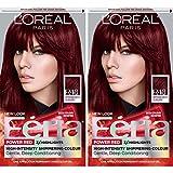 L'Oréal Paris Feria Multi-Faceted Shimmering Permanent Hair Color, R48 Intense Deep Auburn, 2 COUNT Hair Dye