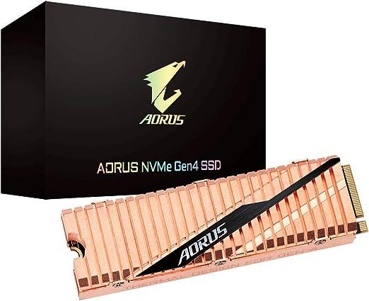 Gigabyte AORUS NVMe Gen4 M.2 2TB PCI-Express 4.0 Interface High Performance Gaming, Full Body Copper Heat Spreader, Toshiba 3D NAND, DDR Cache Buffer, 5 Year Warranty SSD GP-ASM2NE6200TTTD