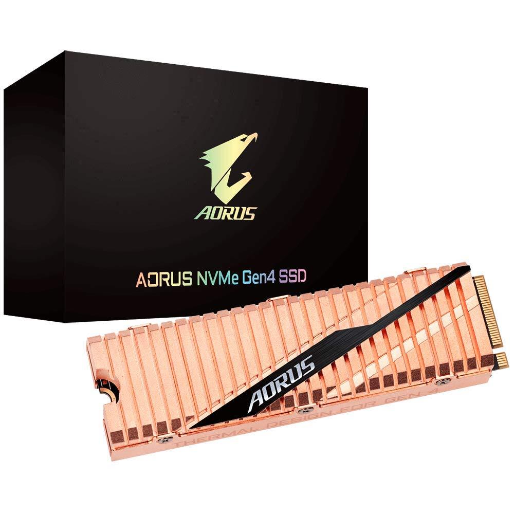 GIGABYTE AORUS NVMe Gen4 M.2 1TB PCI-Express 4.0 Interface High Performance Gaming, Full Body Copper Heat Spreader, Toshiba 3D NAND, DDR Cache Buffer, 5 Year Warranty SSD GP-ASM2NE6100TTTD by GIGABYTE