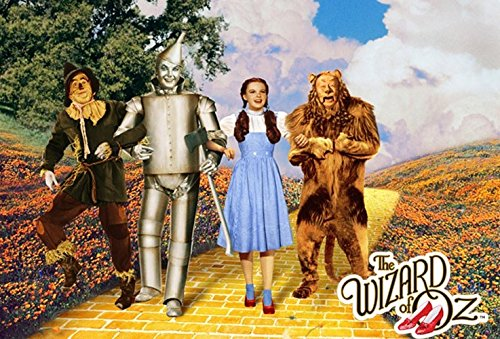 (Wizard of Oz Yellow Brick Road 24x36 Movie Poster Dorothy Gale Scarecrow)