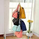 4+2 hanging purse organizer for closet Hanging Closet Organizer Purse Storage with Swivel Hanger ,Purses, Handbags, Satchels, Crossovers, Backpacks (Rack )