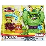 Play-Doh - Aplasta la pasta, diseño Hulk, juego creativo (Hasbro B0308EU4)
