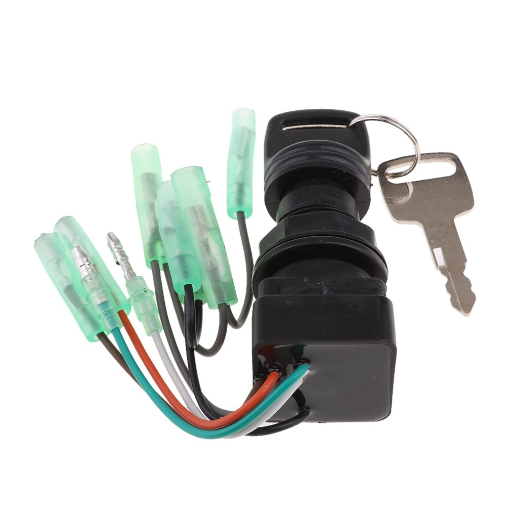 Baoblaze 37110-92E01 Ignition Switch Assembly & Key for SUZUKI Outboard 8HP 225HP