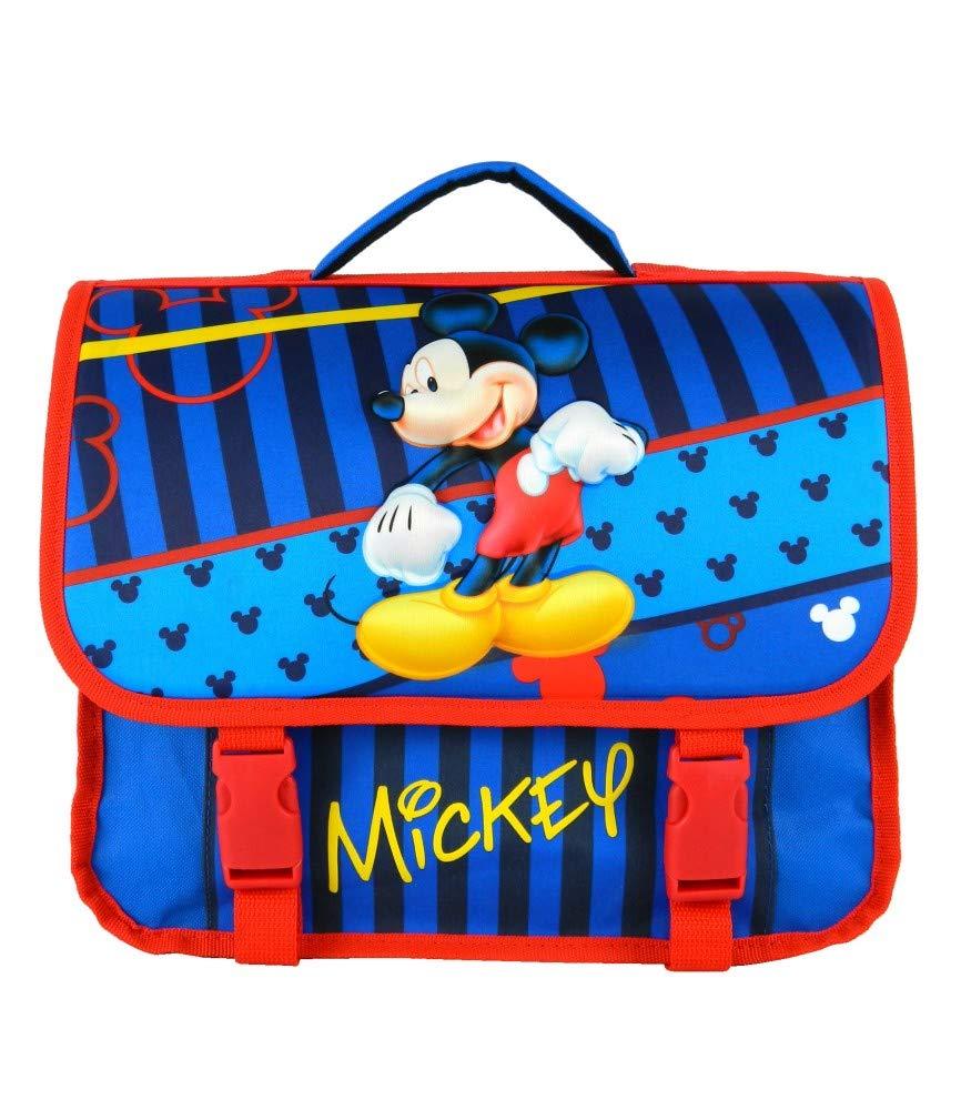 Cartable 35CM Bleu-Mickey DISNEY