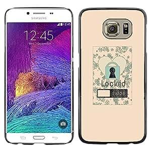 LECELL--Funda protectora / Cubierta / Piel For Samsung Galaxy S6 SM-G920 -- Lock Screen Love Heart Floral Vignette Poster --