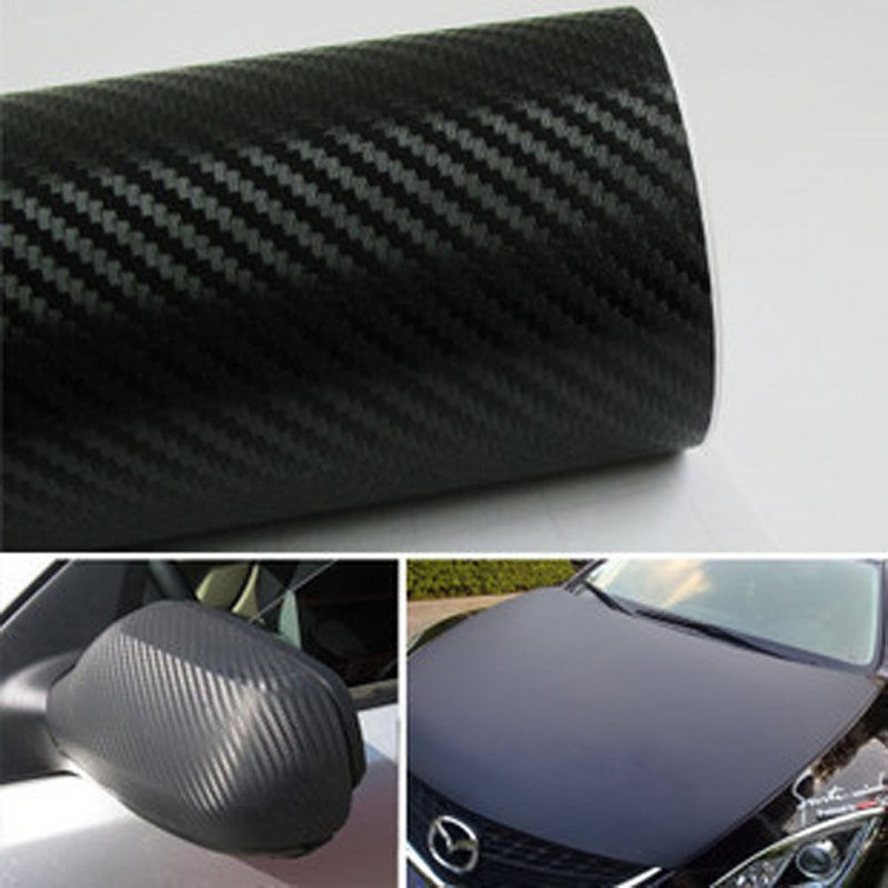 Amazoncom X Xcm D Carbon Fiber Film Wrap Vinyl Decal - Car decals designcheap carbon vinyl sticker buy quality carbon time directly from