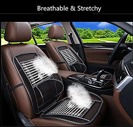 1PC Bamboon Lumbar Brace Back Support Pad Waist Massage Auto Seat Cushion Pretty