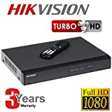 Hikvision DS-7208HGHI-SH 4 TB Turbo 720p 1080p 8 Channel Analogue Plus HD-TVI Hybrid DVR Digital Video Recorder - Black