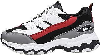 Chaussures ADESHOP Mode Chaussures De Sport pour Hommes Chaussures Tout-Aller Chaussures De MaréE Chaussures Anciennes AntidéRapant ÉPissage Couleur LaçAge Outdoor Sport Respirant Travail Baskets