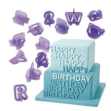 Juego de 40 moldes para tartas con letras del alfabeto para tartas, para fondant, galletas, galletas, galletas, etc.: Amazon.es: Hogar