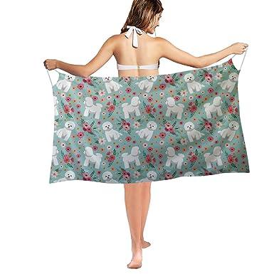 b31b6f299cd9f HUGS IDEA Bichon Frise Pattern Women s Bikini Smock Summer Beach Swimwear  Spaghetti Strap Swimsuit Cover up