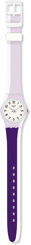 Swatch Reloj Analógico para Mujer de Cuarzo con Correa en Silicona LW169