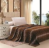 Home Must Haves Safari Animal Print Ultra Soft Brown Leopard Microplush Blanket (King)