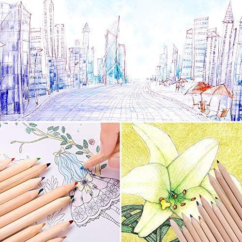 correcteur de posture et poign/ées pour enfants Sourceton Lot de 6 pinces /à crayons et 12 crayons de couleur avec taille-crayon