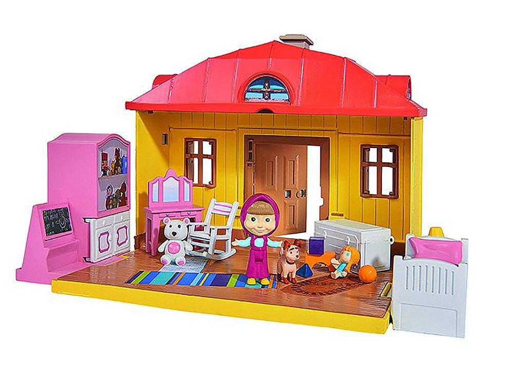 Simba-Dickie 109301023 Mascha Playset Winter Bear House, Multi Simba Toys
