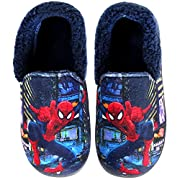 Spider-Man Boys Navy Red Warm Fur Slippers Clog Mule Indoor Shoes (Parallel Import/Generic Product) (1 M US Little Kid)