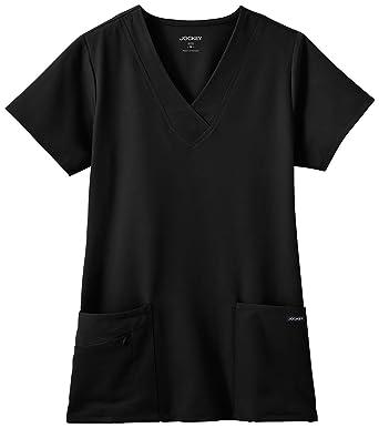 c6ee7407 Amazon.com: Jockey Women's Scrubs V-Neck Crossover Scrub Top: Clothing