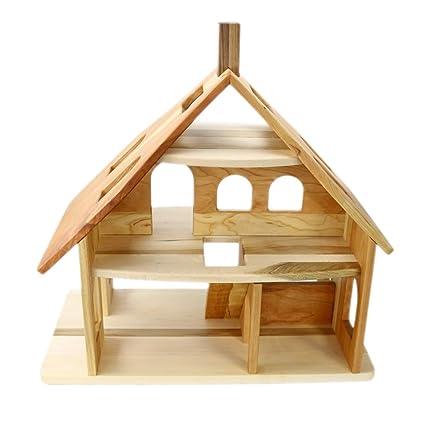 Amazon Com Camden Rose Three Story Cherry Wood Dollhouse Toys Games