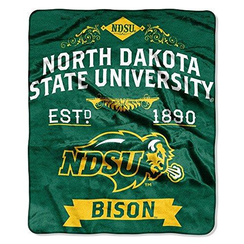 The Northwest Company North Dakota State University Bison Established 1890 Label Design 50x60 Royal Plush Raschel Throw