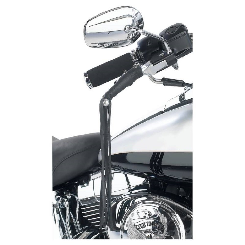 Amazon.com: Leather Motorcycle Brake Clutch Fringe Grip Covers ...