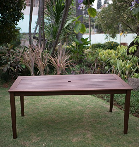 Cambridge-Casual 868320 Como Rectangular Dining Table, Natural (Rectangular Dining Table Teak)