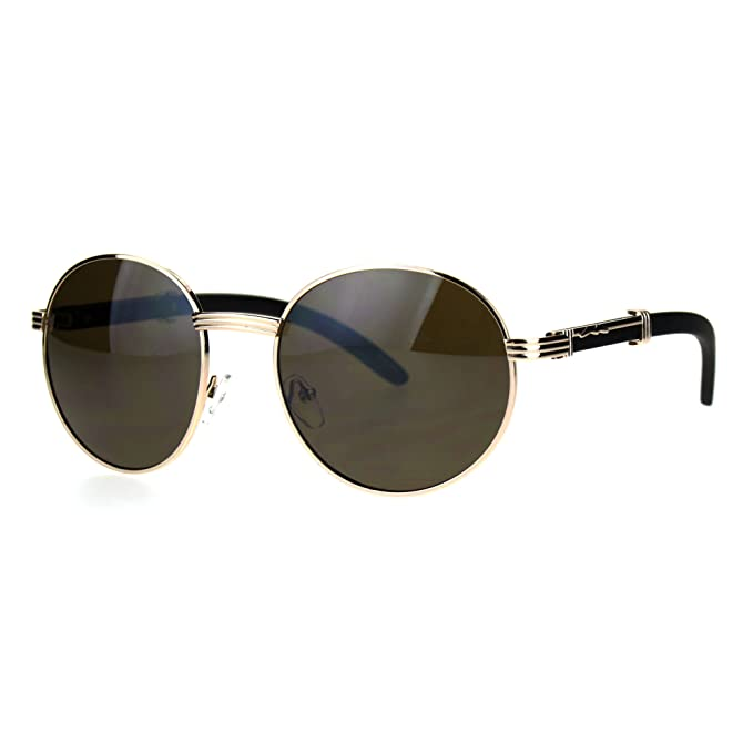 SA106 Retro Art Nouveau Vintage Style Small Oval Metal Frame Sunglasses