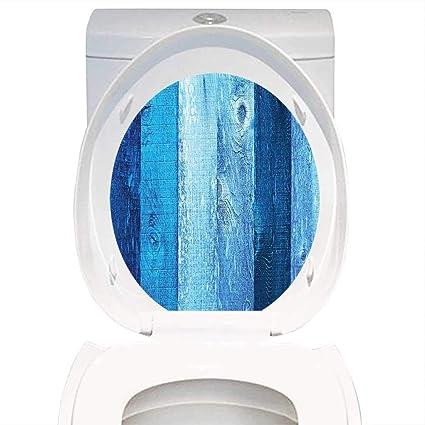 Peachy Amazon Com Toilet Seat Sticker Navy Blue Decor Distressed Uwap Interior Chair Design Uwaporg