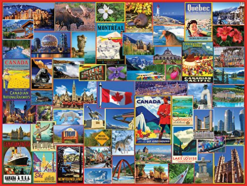 (White Mountain Puzzles Best Places in Canada - 1000 Piece Jigsaw Puzzle)