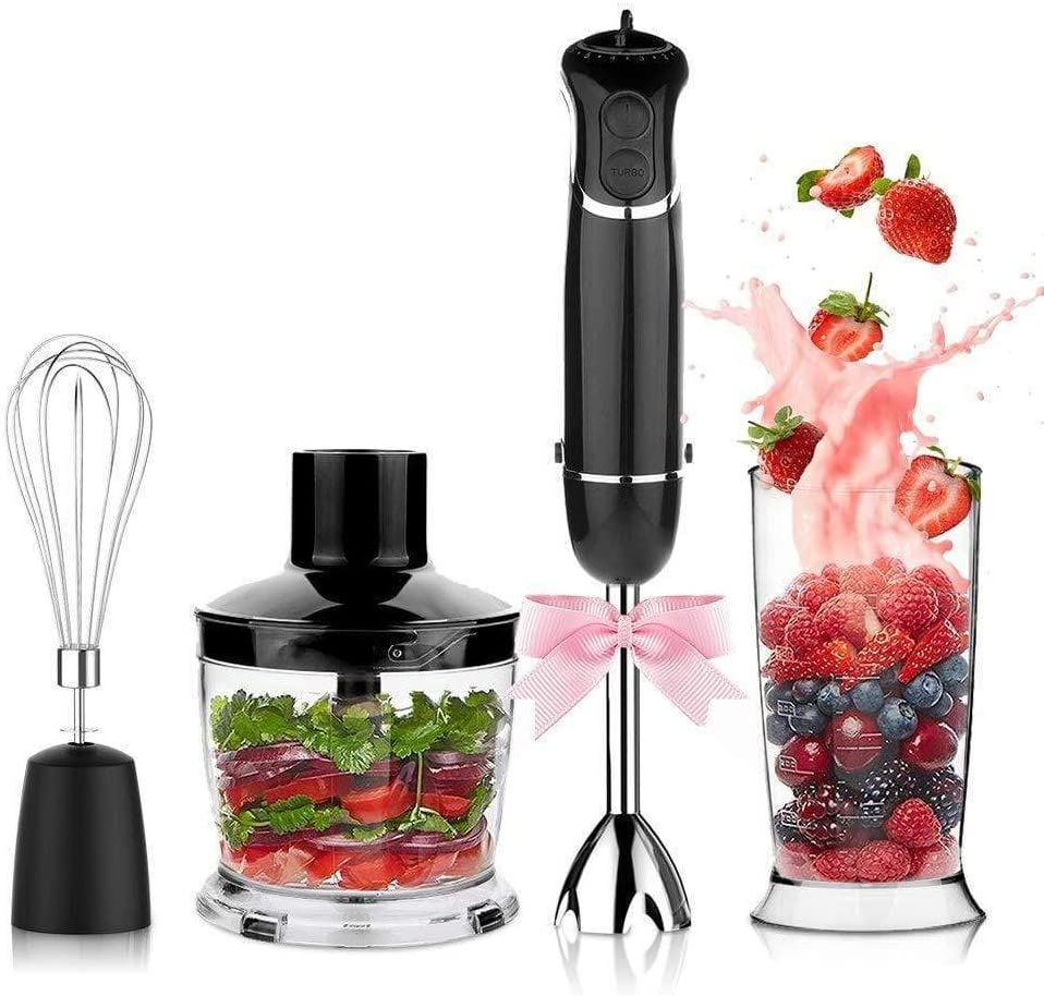Electric 4-in-1 Hand Immersion Blender with 12-Speed Stick