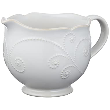 Lenox French Perle Sauce Pitcher, White