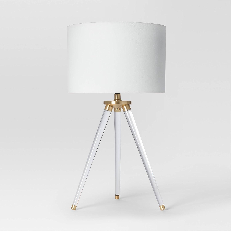 Amazon.com: Delavan trípode lámpara de mesa diseño de ...