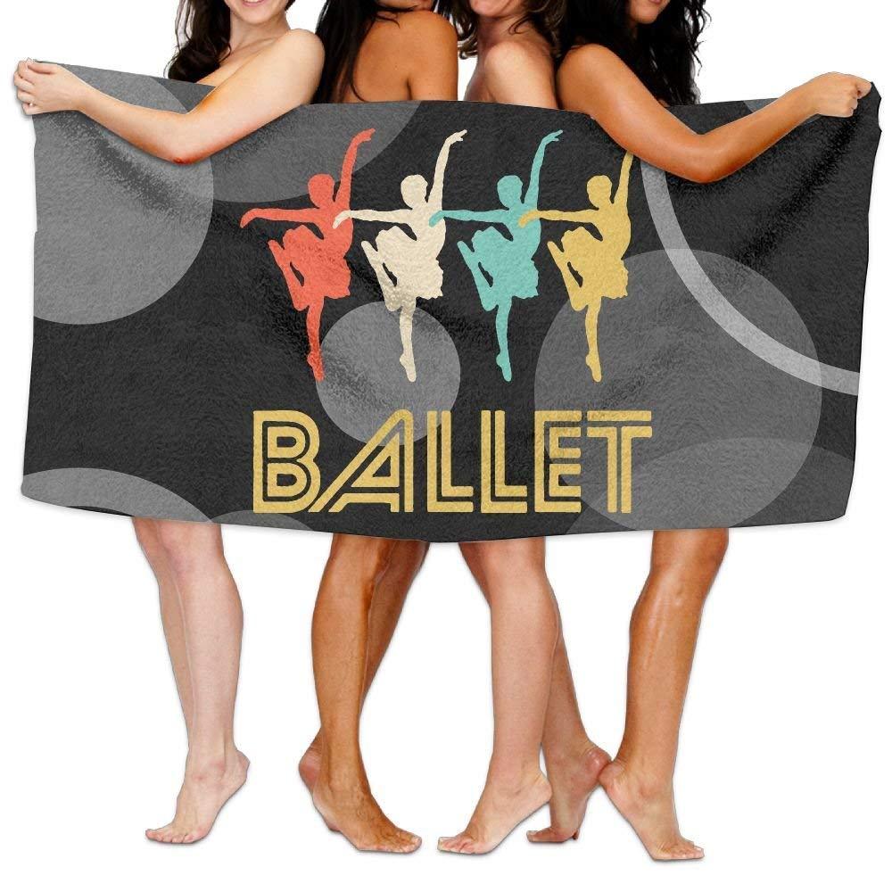 HONGYUDE Ballerina Retro Pop Art Ballet Dance 100% Polyester Velvet Absorbent Towels 31 X 51 inches
