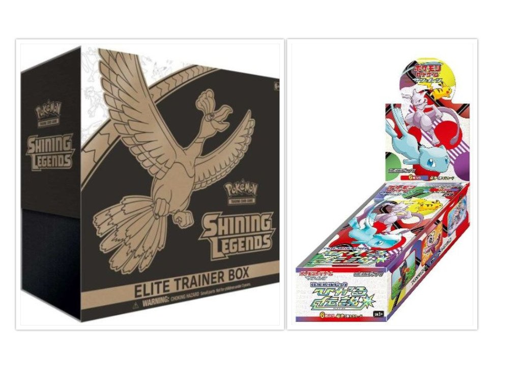 Pokemon Shining Legends Elite Trainer Box + Japanese Shining Legends Booster Box Bundle, 1 of Each by FED USA Gaming