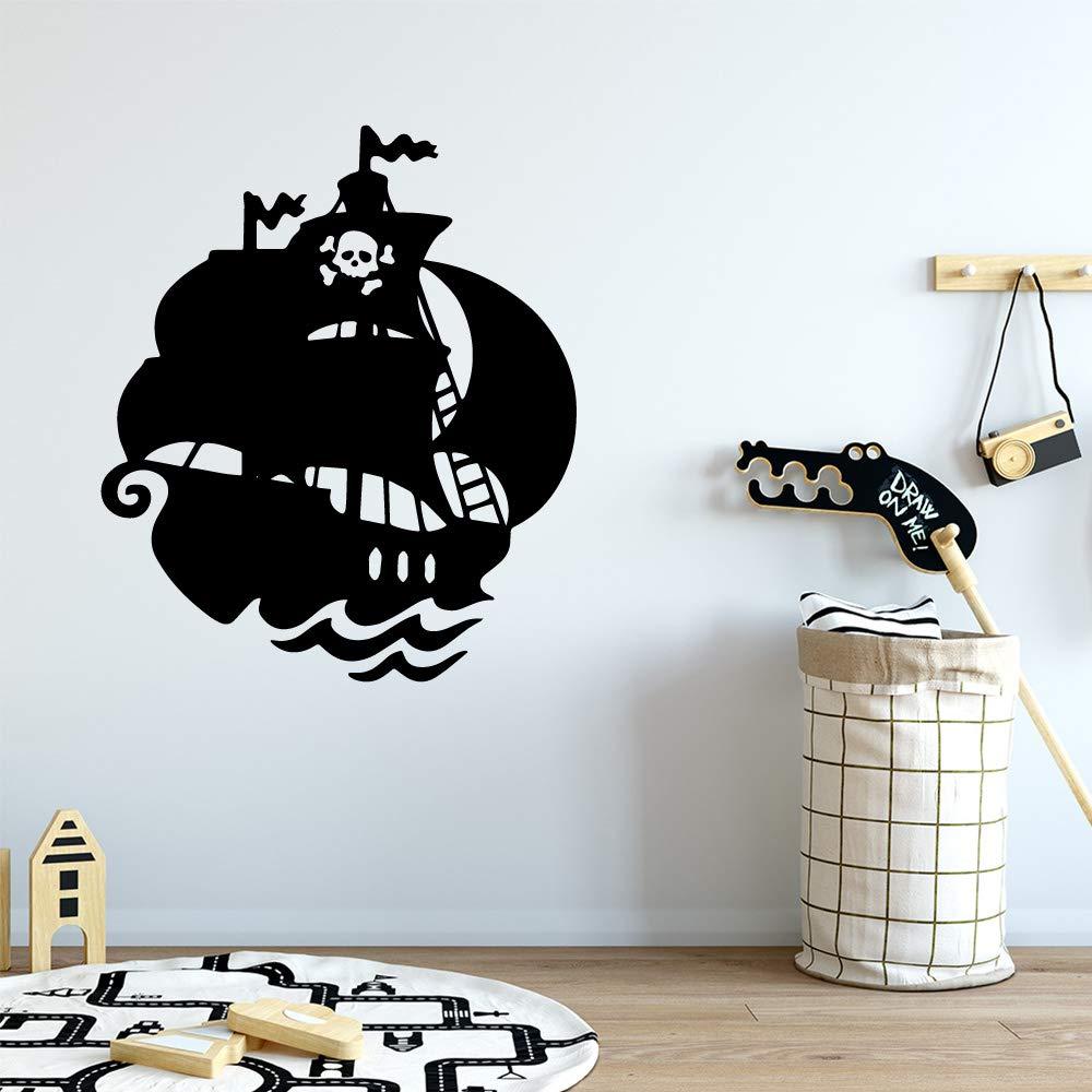wangpdp Barco Pirata Pegatina Decorativa Impermeable decoración de ...