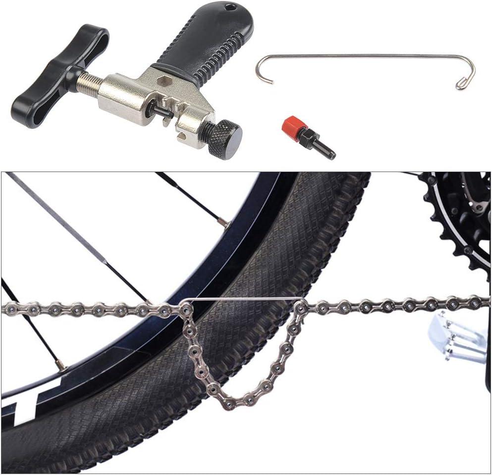TIMESETL Herramientas Bicicleta Cadena Alicates de Cadena Bici y Divisor de Cadena y Indicador de Desgaste de Cadena Herramienta Universal Reparaci/ón Bicicleta para 6//7// 8//9// 10 Velocidades