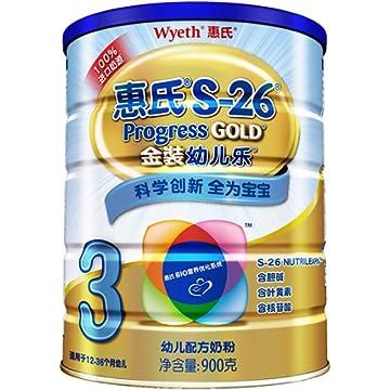 Wyeth 惠氏 S-26 金装幼儿乐 幼儿配方奶粉 3段 960g*4件