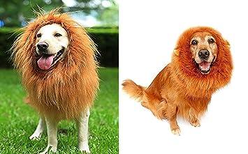 looching 2 pcs León melena Prank disfraz grande perro león Mane peluca peluca de disfraces de